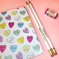Diabetes Candy Heart Notebook